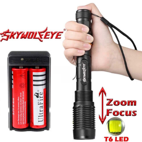 Charger 18650 Battery Zoomable 50000Lumens High Power T6 LED Flashlight Torch