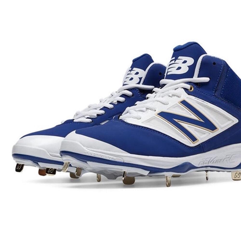 Size 13 D Men's New Balance Athletic Metal Baseball Cleats Blue/White M4040AB3