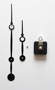 Mécanisme Horloge Pendule Quartz Aiguilles Trou 16/23cm- Canon Long