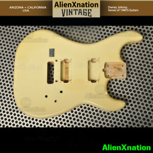 Kramer JK Made In japan Guitar Body Authentic Kramer White w/ imperfection