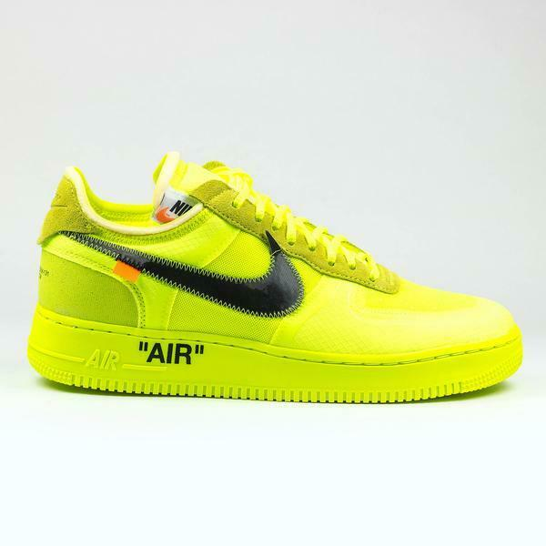 100% Authentic New Nike x Off White Air Force 1 Volt Yellow
