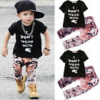 Baby Boy Kids Summer Clothes Short Sleeve T-shirt Top Pants Casual Tracksuit Set