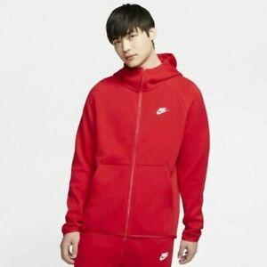 Nike Tech Fleece Men S Hoodie University Red 928483 658 Size L Ebay