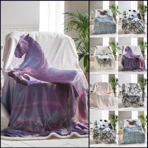 Animal jette Doux Chaud Polaire Flanelle Sherpa couvertures pour Canapé-lit Canapé Canapé