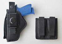 Combo Bersa Thunder 380 & 22 Holster & Double Mag Pouch Combo