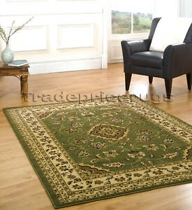 LARGE-GREEN-BEIGE-CLASSIC-TRADITIONAL-RUG-120x170-SALE