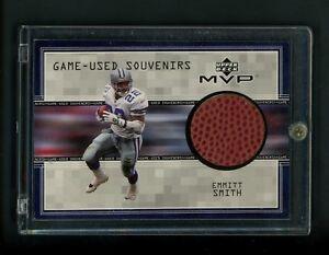 1999 Emmitt Smith Upper Deck MVP Game Used Football Card Dallas ... c68067d8a