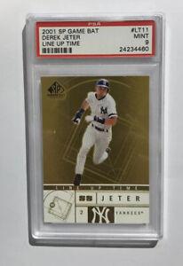 DEREK-JETER-UPPER-DECK-SP-Baseball-Card-Game-Bat-Edition-Line-Up-Time-PSA-9