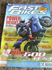FAST BIKES MAGAZINE APR 2005 POWER v WEIGHT ILLEGAL STREET RACING RIDE TO POLAND