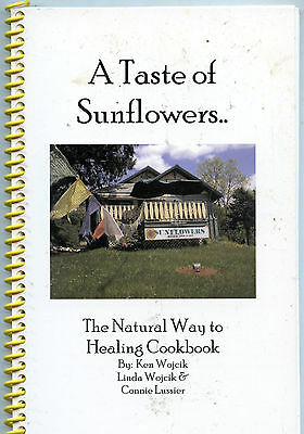 A TASTE OF SUNFLOWERS Natural Healing Vegetarian DANIELSON CT Cafe SIGNED