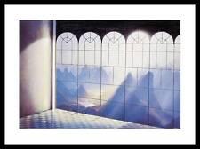 Hans Werner Sahm Belvedere Poster Kunstdruck mit Alu Rahmen in schwarz 40x50cm