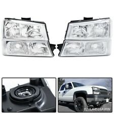 Fit For 03 06 Chevy Silverado Chrome Clear Corner Headlightssignal Bumper Lamps Fits More Than One Vehicle