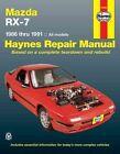 Mazda RX-7 (1986-1991) Automotive Repair Manual by J. H. Haynes, Mike Stubblefield (Paperback, 1988)