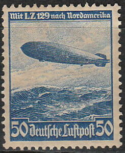 Stamp-Germany-Mi-606-Sc-C57-1936-Reich-Airship-Airmail-Hindenburg-Zeppelin-MH