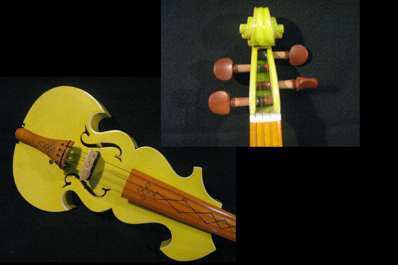 Hermoso Hermoso Hermoso Color Amarillo mejor modelo 4 4 Electric Violín + Acústico Violín  4346  precio razonable