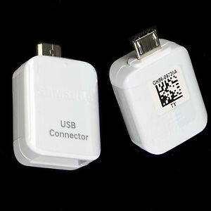 genuine original usb connector otg adapter for samsung. Black Bedroom Furniture Sets. Home Design Ideas