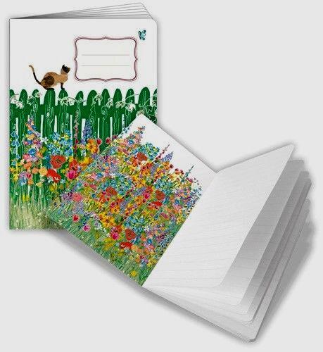 Quire Notizheft*Notizbuch*Büttenpapier*Katze auf dem Zaun*A6*liniert