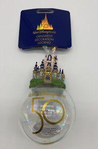 Disney WDW 50th Plus Magical Célébration Château Balle Noël Ornement Neuf