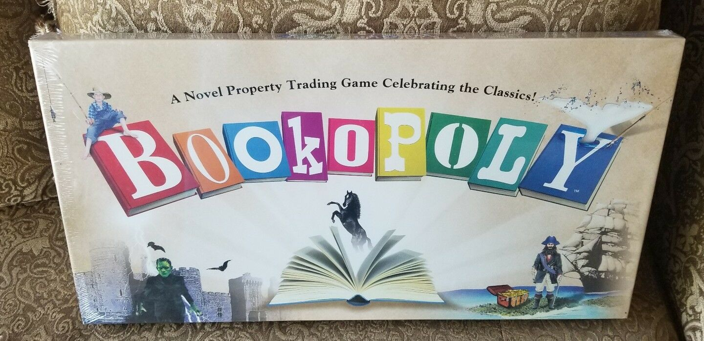 Bookopoly Monopoly Board Game -Sealed