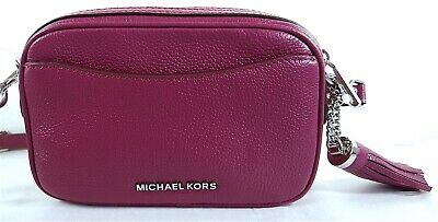 Michael Michael Kors Pebble Leder Convertible Crossbody Gürteltasche in Granat | eBay