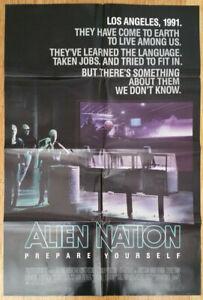 ALIEN NATION 1988 Original 1 sheet 27x41 James Caan Mandy Patinkin Terence Stamp