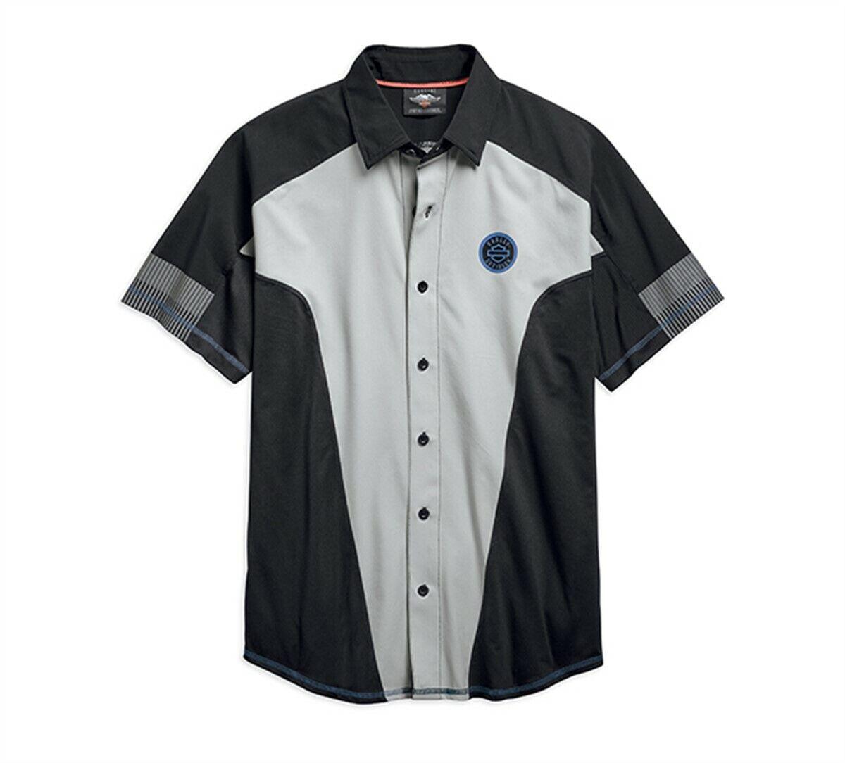 8dbc5af98b HARLEY-DAVIDSON MEN S PERFORMANCE GREY SHORT SHIRT 96657-19VM XL SLEEVE  MESH nnxwlp10867-Casual Shirts   Tops