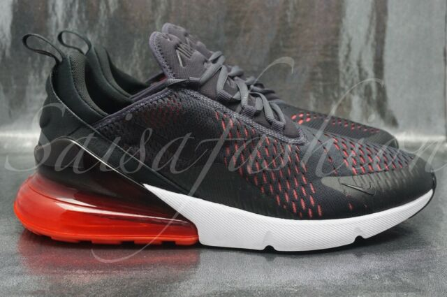 detailed look 39e2a b4934 Nike Air Max 270 Mens Ah8050-013 Oil Grey Black Red Mesh Running Shoes Size  12