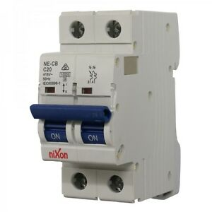 20AMP 2 Pole 10ka MCB DC Circuit Breaker
