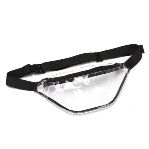 Men Women Fanny Pack PVC Clear Pouch Belt Waist Bum Bag Waist Phone Pocket #wcl