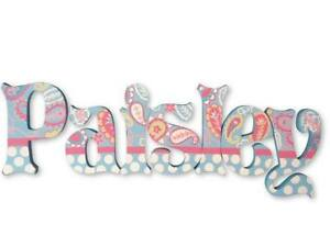 Image Is Loading Hand Painted Wood Letters Nursery Wooden Wall Name