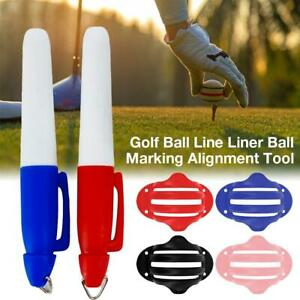 Golf-Ball-Marker-Line-Drawing-Alignment-Tool-Kit-With-2-Golf-Ball-Marker-Pens