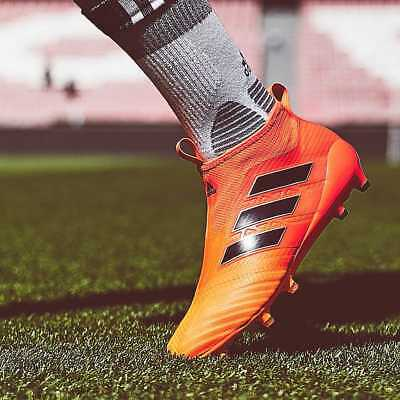 ADIDAS ACE 17+ purecontrol FG Homme Chaussures De Football Orange Laceless TAILLE 8 8.5 | eBay