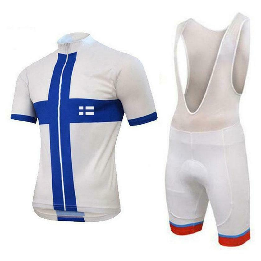 Finland Flag bianca Cycling Kit