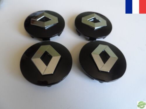 4 centres de roue RENAULT TWINGO 57 mm caches moyeu jante  LOGO EMBLÈME NEUF