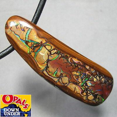 Magnificent Pattern * Big 77ct Natural Australian Koroit Boulder Opal Pendant