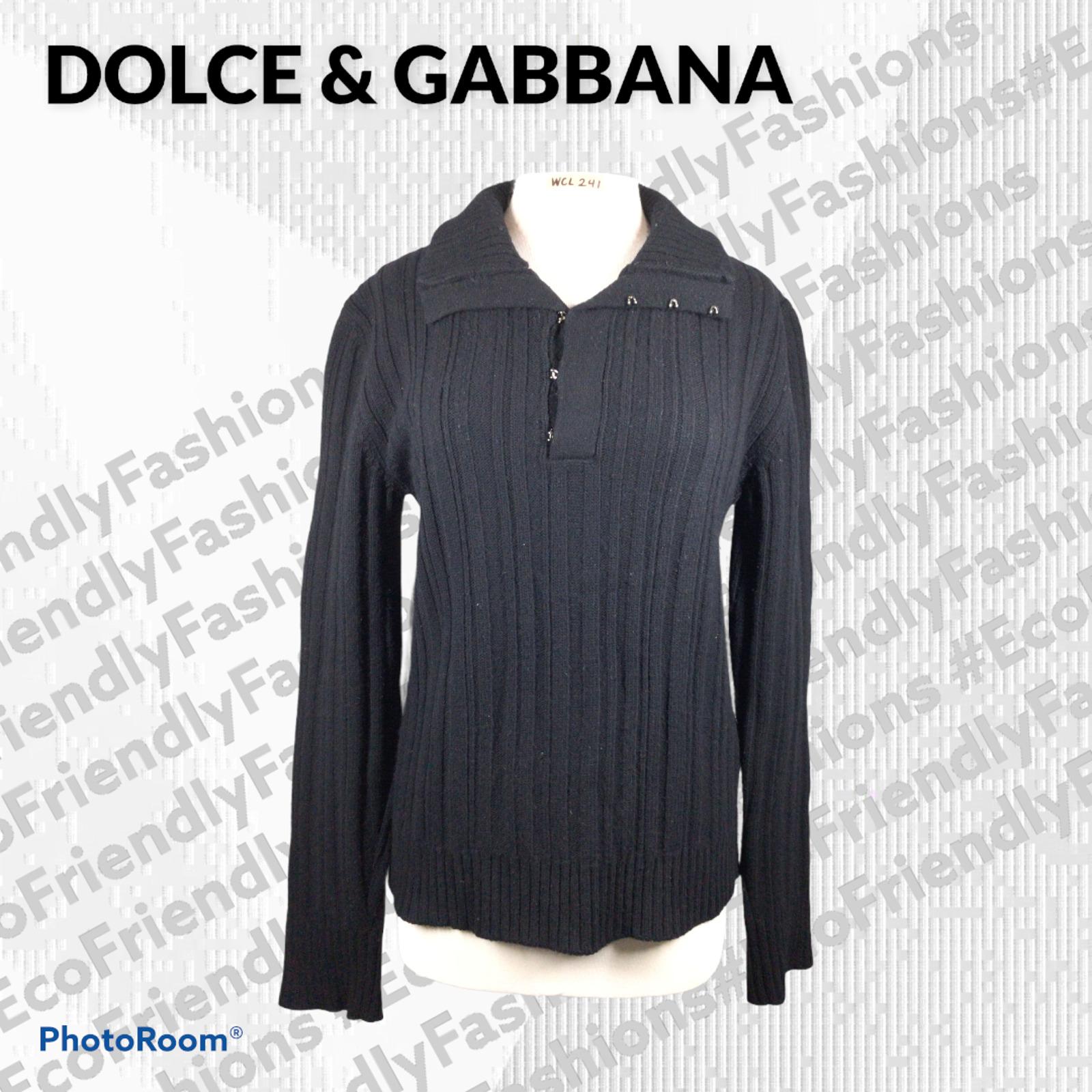 Dolce&Gabbana Men's Lightweight Rib-Knit Wool Swe… - image 1