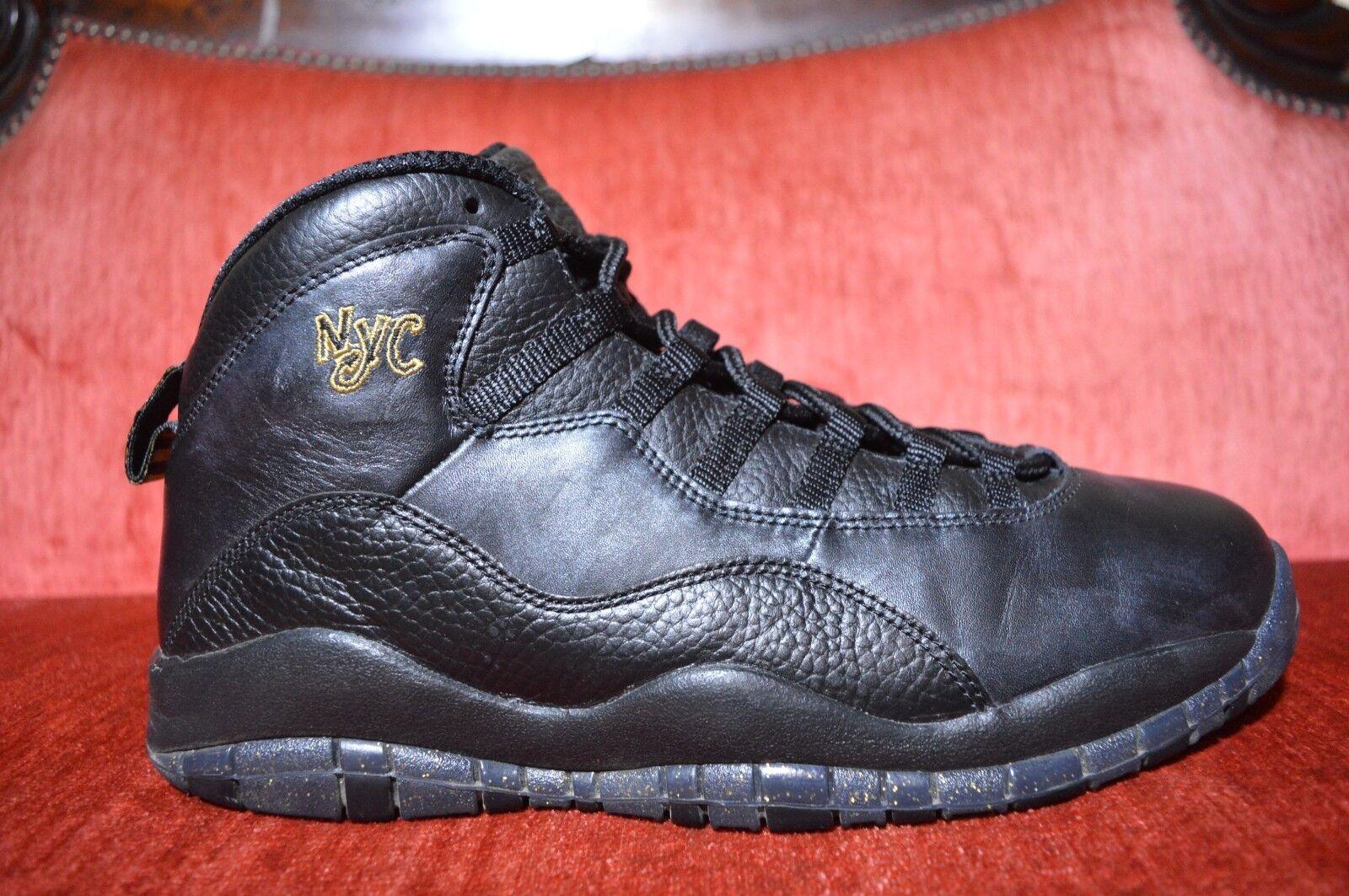 f03f3428cb Nike JORDAN 10 RETRO X Size 11 BLACK CITY PACK NEW YORK NYC City gold AIR  nnslzn4137-new shoes