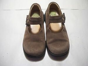 Stride-Rite-Brown-Suede-T-T-Tania-Mary-Jane-Shoes-Size-11-5-W