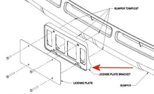 OEM NEW! Toyota Tundra 2010-2013 Front License Bracket