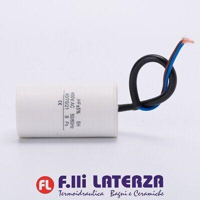 Condensatore 8 microfarad motore elettrico elettropompa Motor capacitor 450V