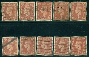GREAT BRITAIN SG-506, SCOTT # 283, USED, 10 STAMPS, GREAT PRICE!