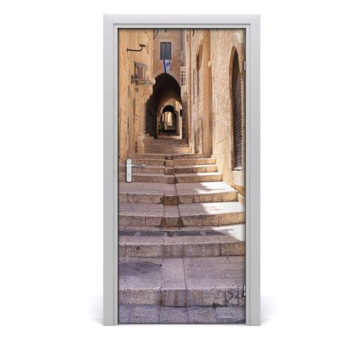 Self adhesive Door wrap removable Peel /& Stick Architecture Jerusalem Israel