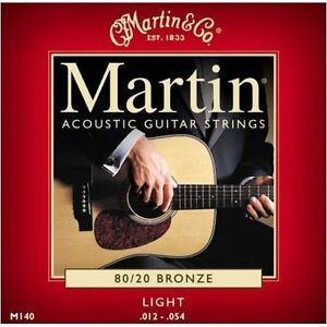Martin-M140-Light-Acoustic-Guitar-Strings-80-20-Bronze-012-054-New