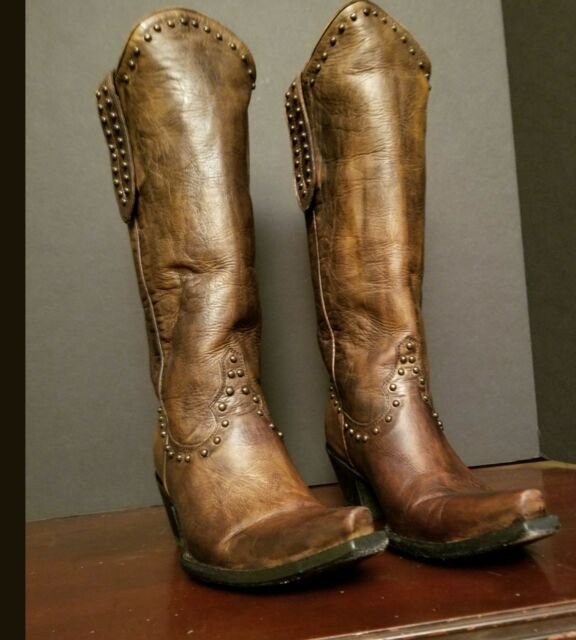 e9936344ccd Brown Embellished Studded Old Gringo Cowgirl Western Boots 7B Distressed