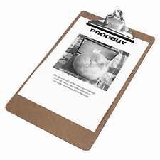 5 x Rapesco Wooden Clipboards A4 Foolscap Document Drawing Boards Holder Clip