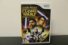 Star Wars: The Clone Wars - Republic Heroes  (Wii, 2009) *Tested