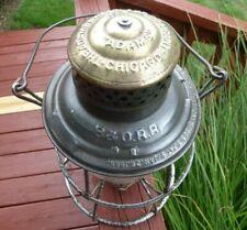 B&O RR The Adams brass top railroad lantern w/clear cast Capitol Dome globe
