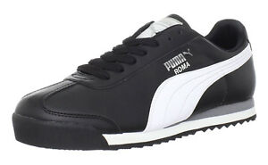 1bfff68fcc3208 Image is loading PUMA-Roma-Basic-Black-White-Silver-Mens-Sneakers-