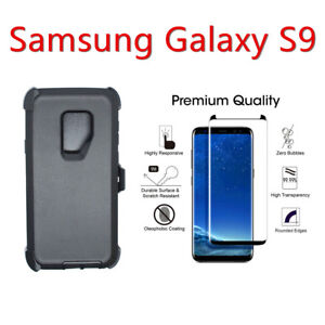 pretty nice 604c1 00547 Details about For Samsung Galaxy S9 Defender Case w/Screen Protector & Clip  fits Otterbox