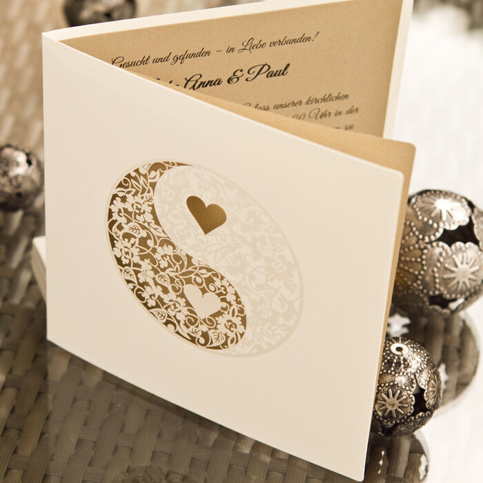 Einladungskarte Hochzeit HE062 +Umschlag, Hochzeitseinladungen, Einladung